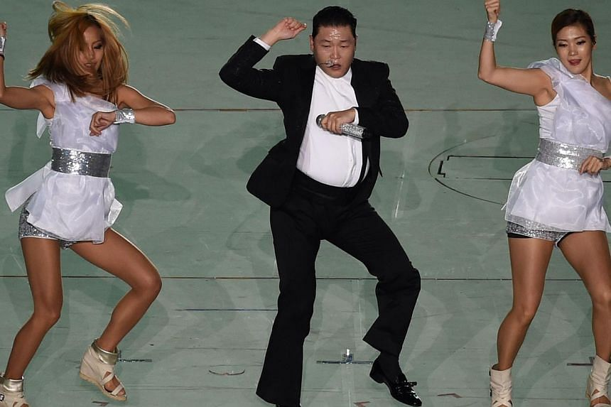 YouTube said the 2012 song by Psy this week reached the maximum number of views that its counter had imagined to be conceivable. -- PHOTO: AFP