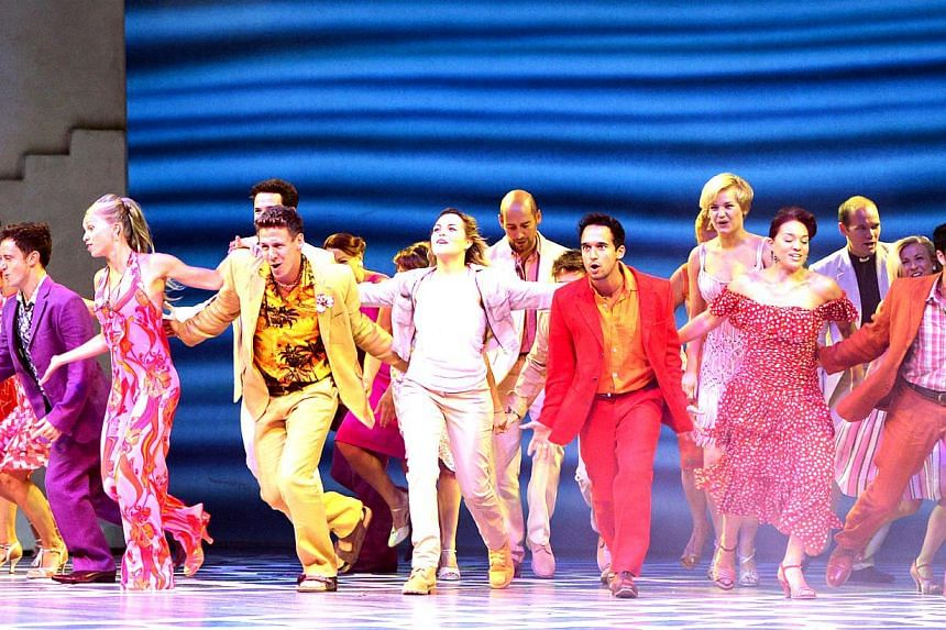 The musical Mamma Mia! being performed at the Grand Theatre at the Marina Bay Sands. The latest survey for 2013 found that 40 per cent of the population attended at least one arts event, down from one in two in 2011.