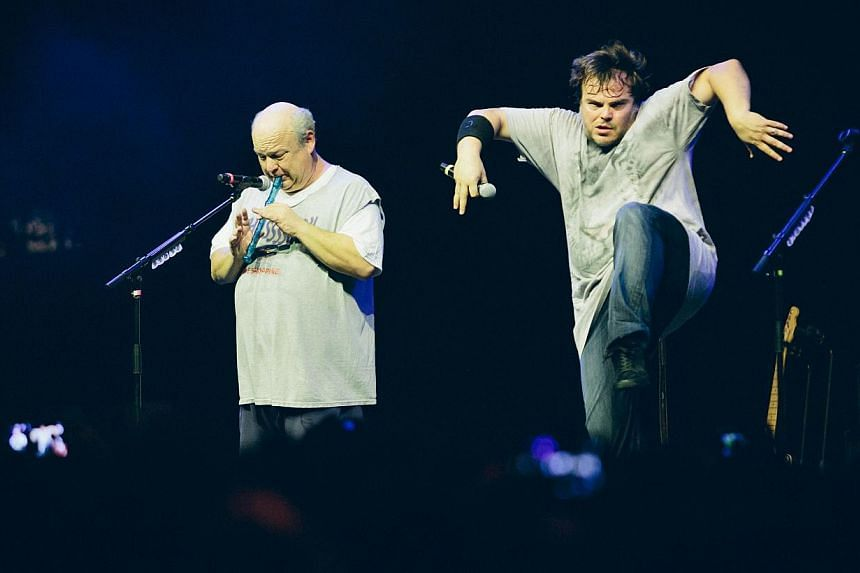 Jack Black (right) and Kyle Gass (left) make up comedyrock duo, Tenacious D. -- PHOTO: FOREFRONT ASIA