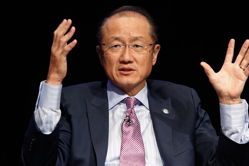 World Bank chief Jim Yong Kim (above) announced a US$160 million (S$209 million) two-year economic recovery plan on Wednesday to help impoverished Sierra Leone battle the worst Ebola outbreak on record. -- PHOTO: REUTERS