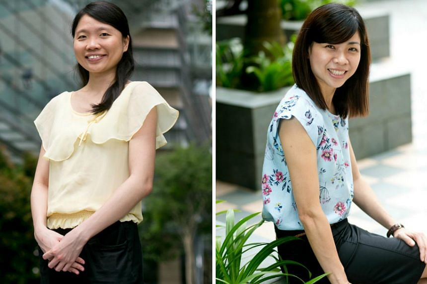 """A*Star junior investigator Guo Huili (left) and NUS engineering professor Ho Ghim Wei were awarded fellowships under beauty brand L'Oreal Singapore's """"For Women in Science National Fellowship"""" programme. -- PHOTOS: L'OREAL SINGAPORE"""