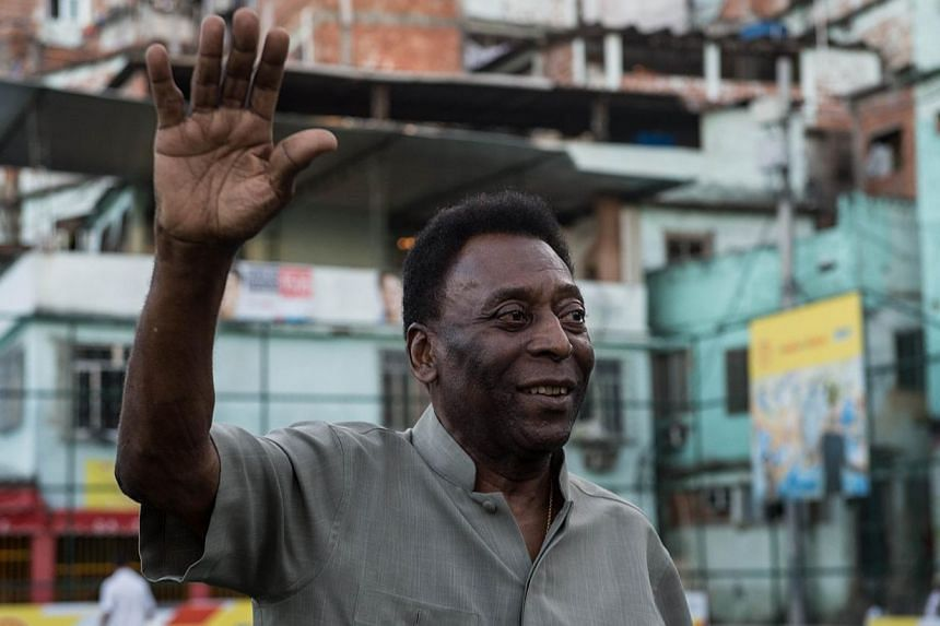 Brazilian soccer legend Pele (above) is recovering well from a kidney ailment, officials said Wednesday, but it is unclear when he can leave the Sao Paulo hospital treating him. -- PHOTO: AFP