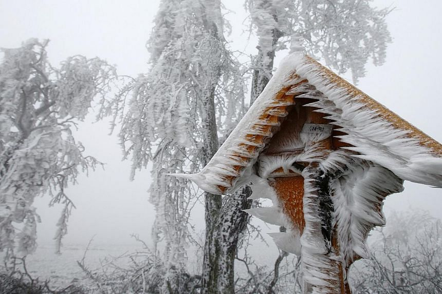 A roadside shrine covered with ice near Reichpolds in Austria. Freezing fog and rain has covered parts of Europe, including Poland, with ice. Doctors have described the case of a toddler who came out of coma, after nearly freezing to deah after wande