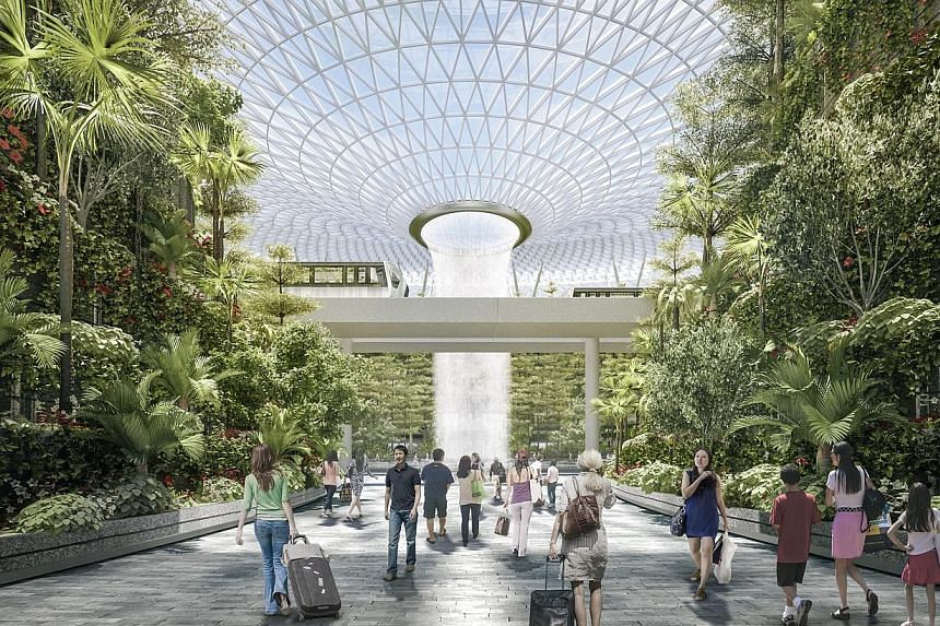 Artist Impression: North Gateway entrance. -- PHOTO: JEWEL CHANGI AIRPORT DEVELOPMENT