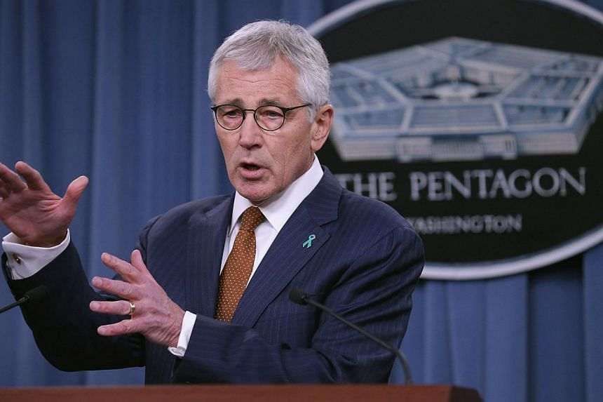 Defence Secretary Chuck Hagel (above) unveiling four new initiatives to combat sexual assault in the US military on Thursday, as the Pentagon released a preliminary report for 2014 showing signs of improvement after a three-year crackdown on the crim
