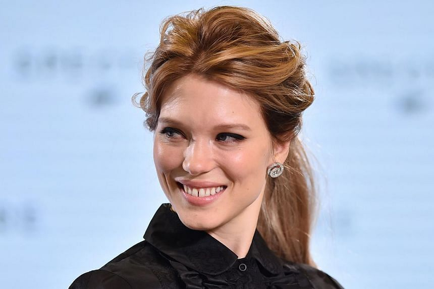 French actress Lea Seydoux poses during an event to launch the 24th James Bond film Spectre at Pinewood Studios at Iver Heath in Buckinghamshire, west of London, on Dec 4, 2014. -- PHOTO: AFP