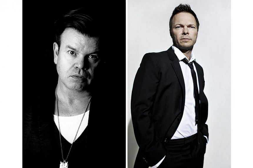 British superstar DJs Paul Oakenfold (left) and Pete Tong (right), as well as Australian electronic dance music duo Nervo, will be performing here next week as part of the inaugural International Music Summit Asia-Pacific held at W Singapore, Sentosa