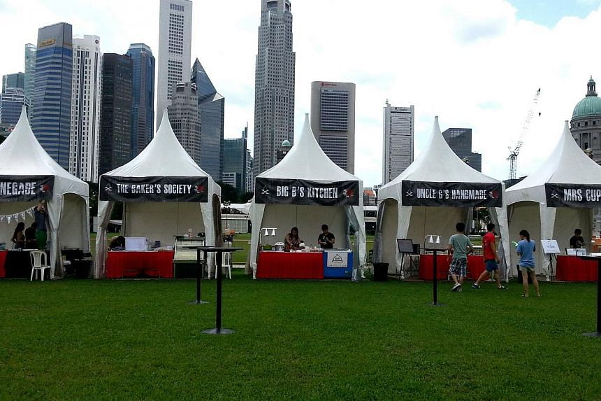 """A view of the Padang at an event earlier this year.The area around the Padang will be turned into """"a walkable park"""", said National Development Minister Khaw Boon Wan. --PHOTO: STFILE"""