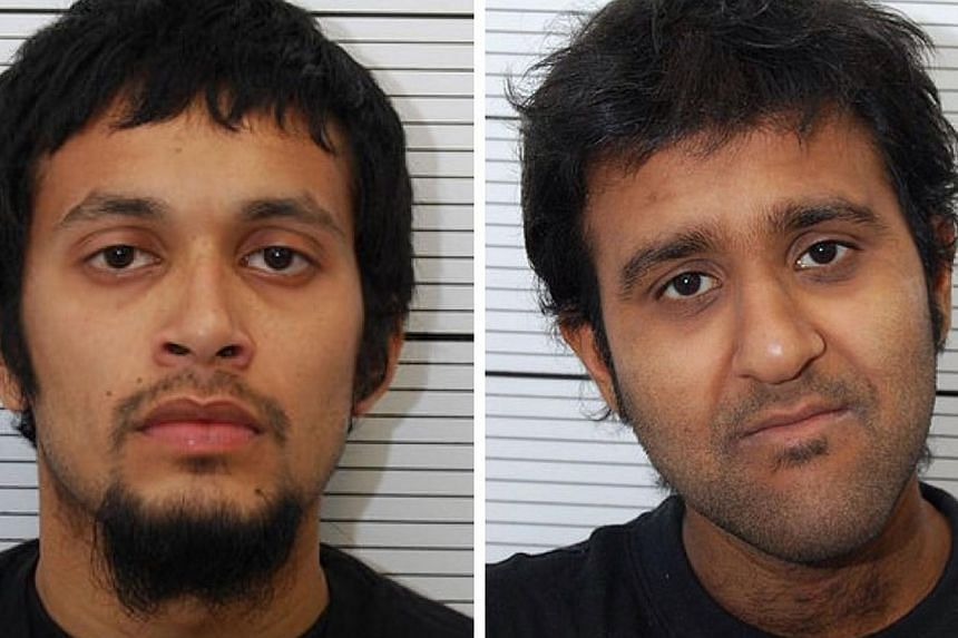 Nahin Ahmed (left) and Yusuf Sarwar (right), both 22 from Birmingham, were jailed for almost 13 years each on Friday after admitting they had joined an Al-Qaeda-linked group fighting in Syria.-- PHOTO: AFP