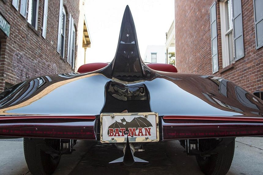 The 1963 Batmobile is shown in this photo released by Heritage Auctions, HA.com on Dec 5, 2014. -- PHOTO: REUTERS
