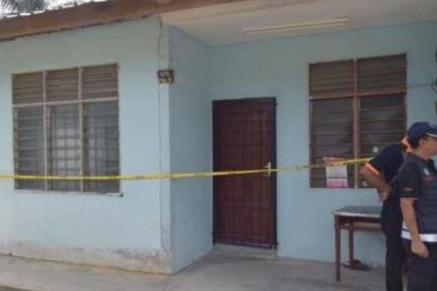 The rented house at Kampung Pisang, Machang Bubok in Bukit Mertajam, where the murders are believed to have taken place. -- PHOTO: THE STAR/ASIA NEWS NETWORK