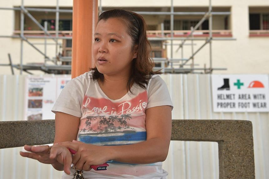 Madam Grace Wong Geck Woon has since left her timekeeping job, and sells children's clothes at flea markets. -- ST PHOTO: KUA CHEE SIONG