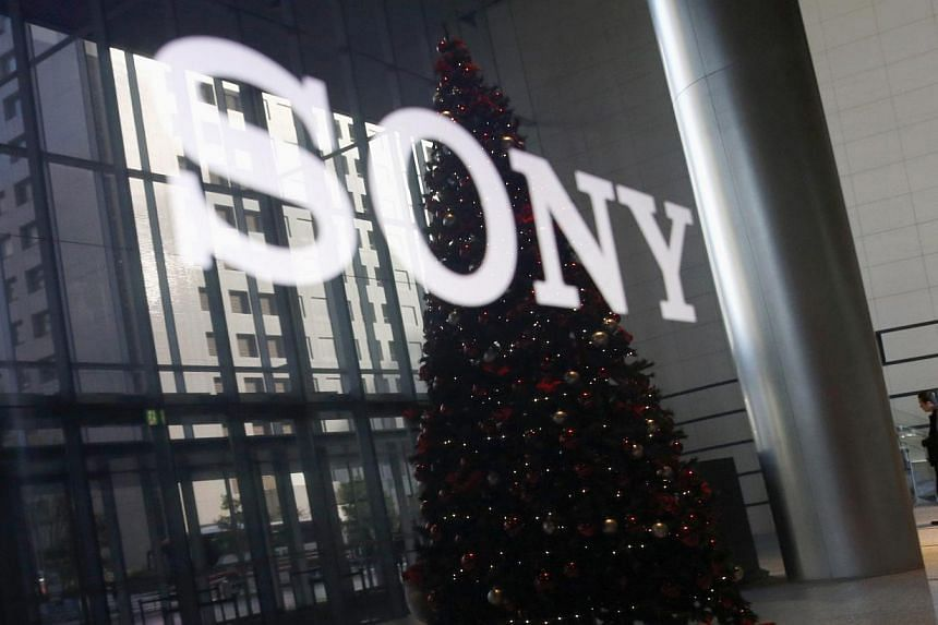 The logo of Sony Corporation in Tokyo on Nov 18, 2014. -- PHOTO: REUTERS