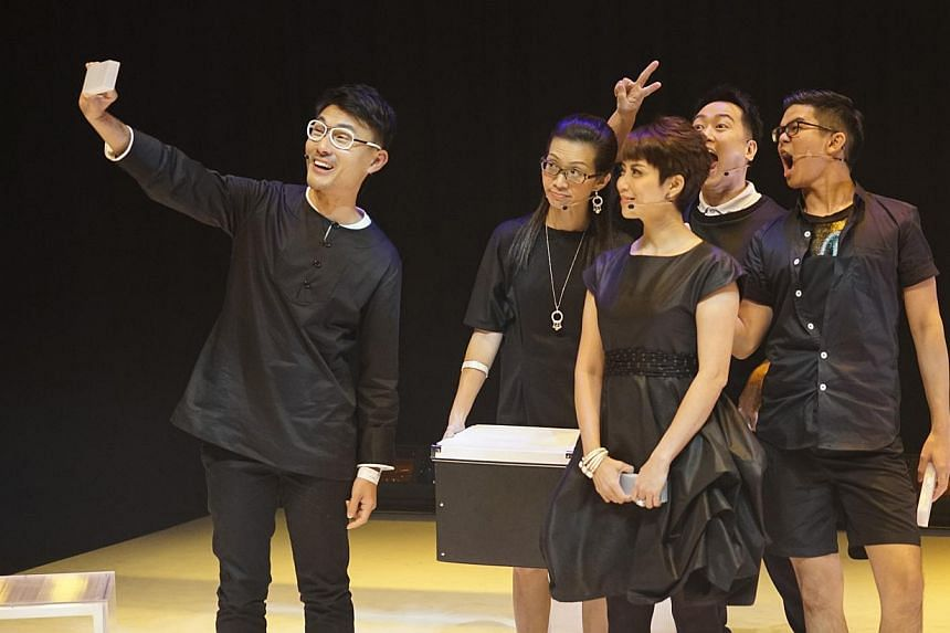 After all the drama that occurred before opening night, the experience of actually watching the play, Like Me. I Like, is anticlimactic, says Ng Yi-Sheng. -- PHOTO: CHONG XUE QUAN, KEN