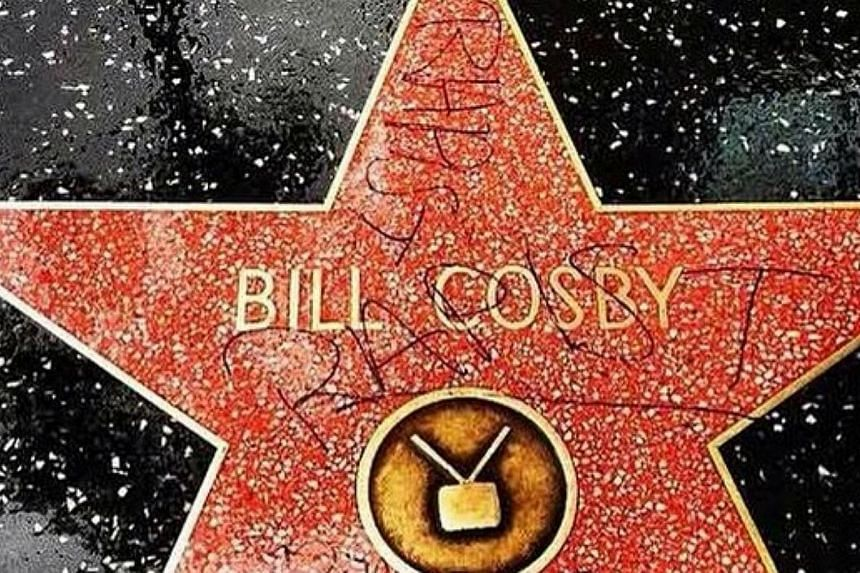 "A vandal scrawled the word ""rapist"" on Bill Cosby's star on the Hollywood Walk of fame on Friday, in the latest unwanted news for the embattled veteran comic. -- PHOTO: INSTAGRAM"