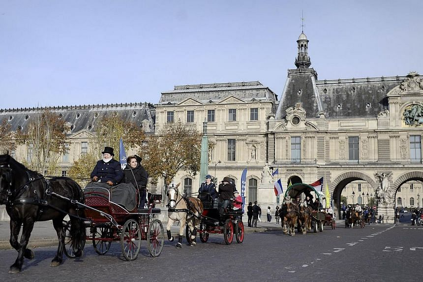 "The mayor of Paris said on Sunday, Dec 7, 2014, that she wants the city's historic centre to become ""semi-pedestrianised"" as she lays out a plan to tackle traffic and pollution in the French capital. -- PHOTO: AFP"