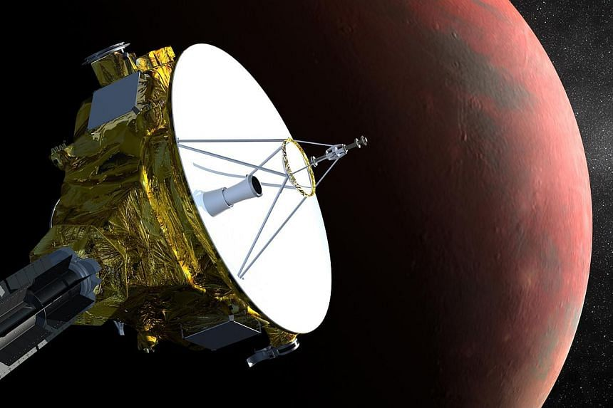 An artist's impression of Nasa's New Horizons spacecraft is shown in this handout image provided by Science@Nasa.After nine years and a journey of 4.8 billion km, Nasa's New Horizons robotic probe will be woken from hibernation to begin its unp