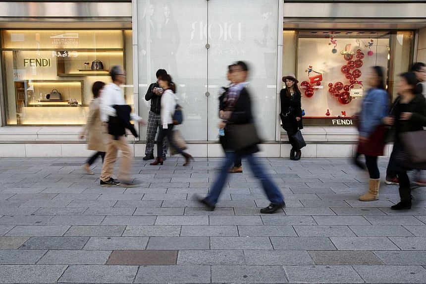 Tokyo's Ginza shopping district on Nov 16, 2014. -- PHOTO: REUTERS