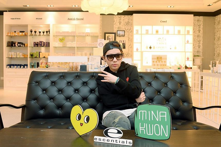 South Korean hip-hop artist Mina Kwon (above), who is working with beauty retailer Escentials on a Christmas campaign, on how she met Pharrell Williams.-- ST PHOTO: AZIZ HUSSIN