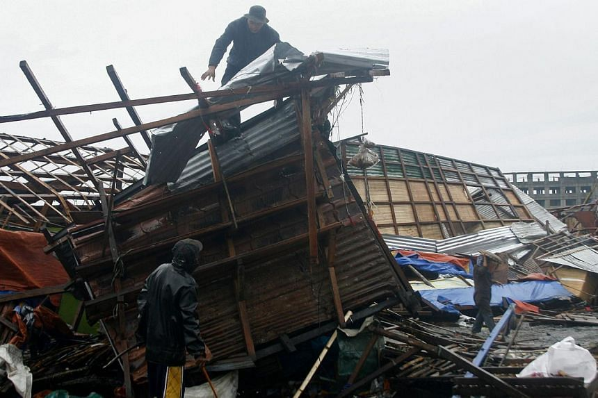 Tacloban, which was wrecked by another typhoon last year, suffered less damage when Hagupit swept through yesterday.
