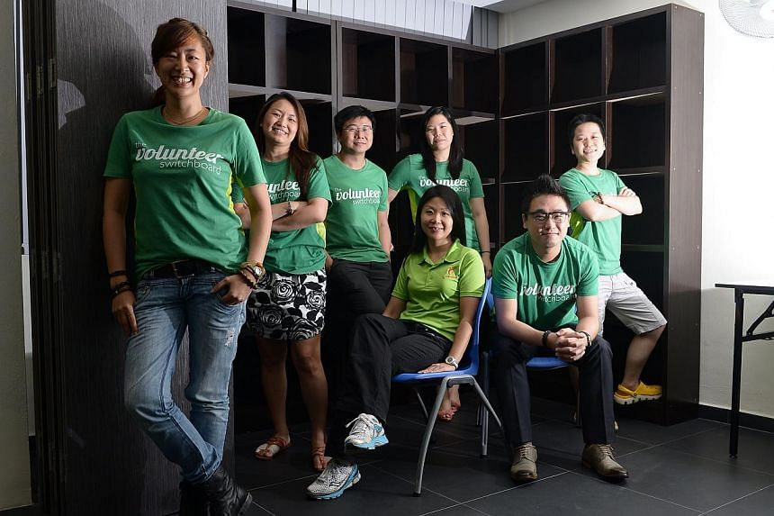 A group of former banking colleagues who revamped how food is distributed to the needy. -- PHOTO: NG SOR LUAN