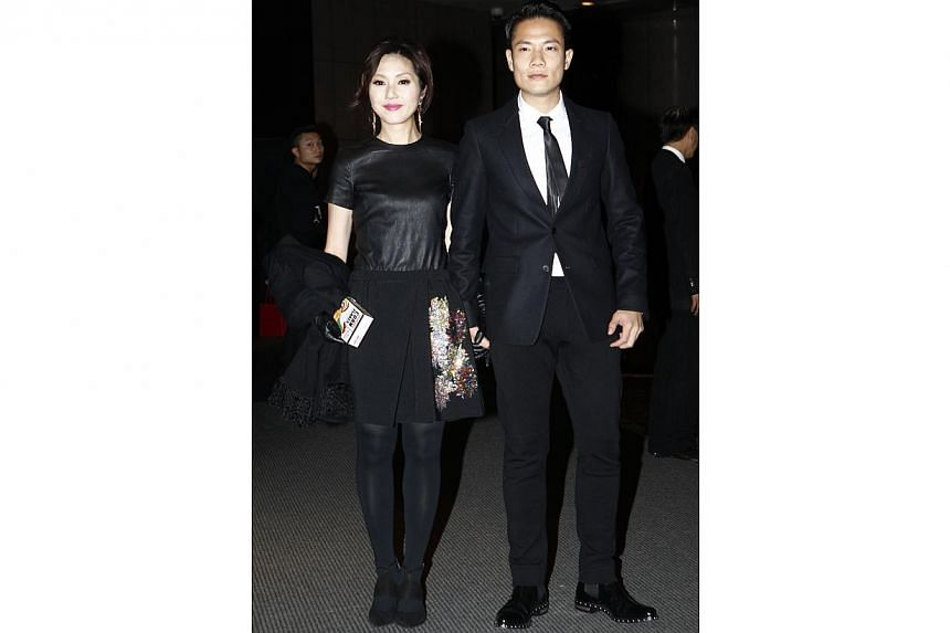 Actress Miriam Yeung and her husband Gary Ting. -- PHOTO: APPLE DAILY