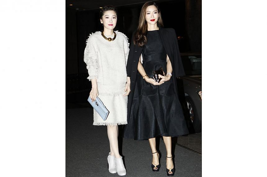 Actress Niki Chow and her sister, model Kathy Chow - a former girlfriend of Alex To. -- PHOTO: APPLE DAILY