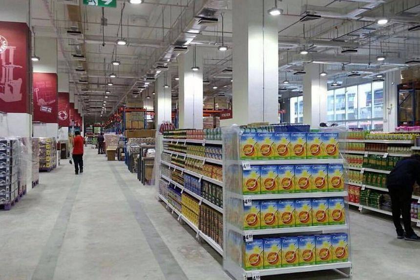 Warehouse Club at Joo Koon MRT station.-- PHOTO: NTUC FAIRPRICE/FACEBOOK