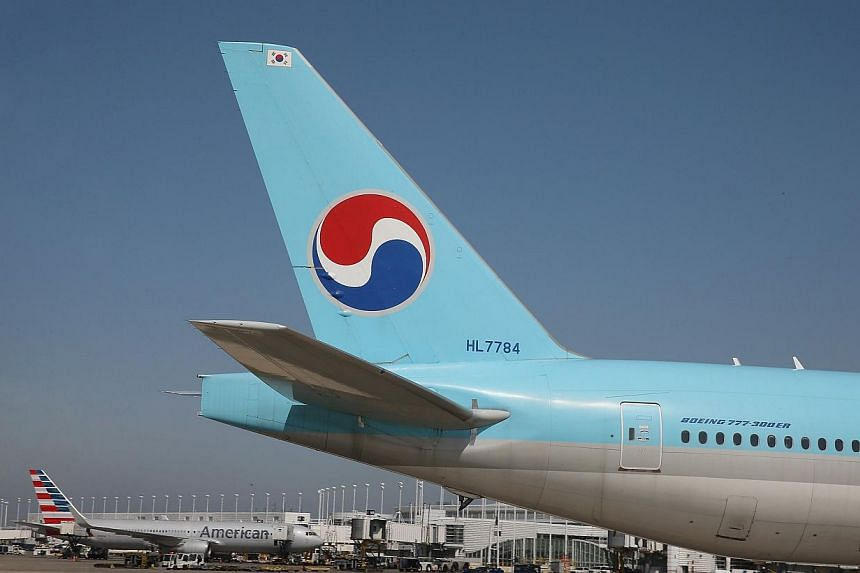 The daughter of the CEO of Korean Air forced the chief flight attendant off a New York-bound plane after she was incorrectly served some nuts - delaying the flight and triggering a government probe, officals said on Monday, Dec 8, 2014. -- PHOTO: AFP