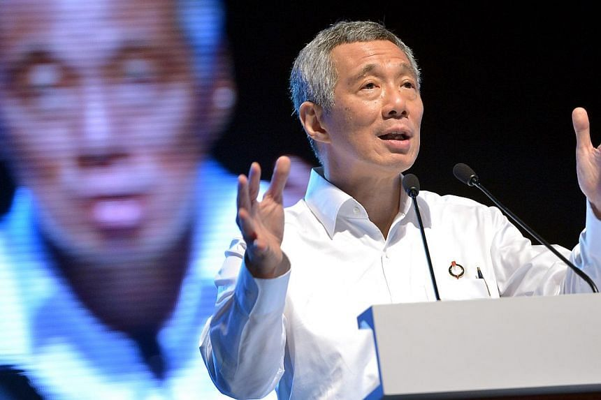 Prime Minister Lee Hsien Loong said Singapore's next General Election (GE) will be about who forms the government to implement policies to take the country forward. -- ST PHOTO: KUA CHEE SIONG
