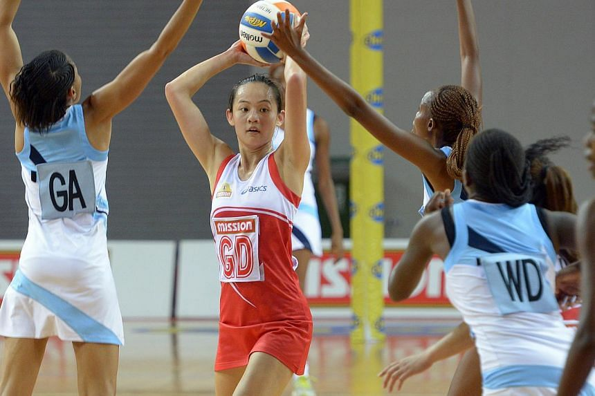 Singapore's Captain Lin Qingyi in action. -- ST PHOTO: DESMOND WEE