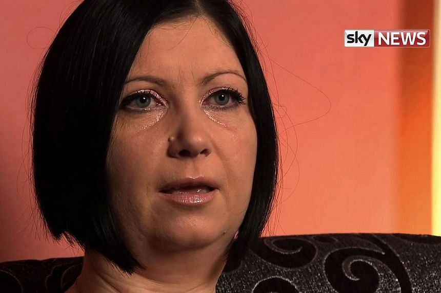 An image grab taken on Dec 7, 2014 from video released by Sky News Television shows the widow of British aid worker David Haines, Dragana Haines, speaking in an interview, given at her home in Croatia. Relief agency worker Haines, 44, was helping ref