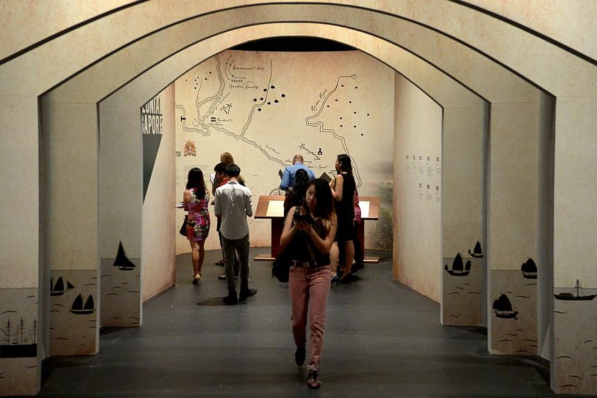 Visitors to the National Museum of Singapore. Visitorship to public museums hit a record high in 2013, even as attendance at ticketed performing arts activities fell. -- PHOTO: ST FILE
