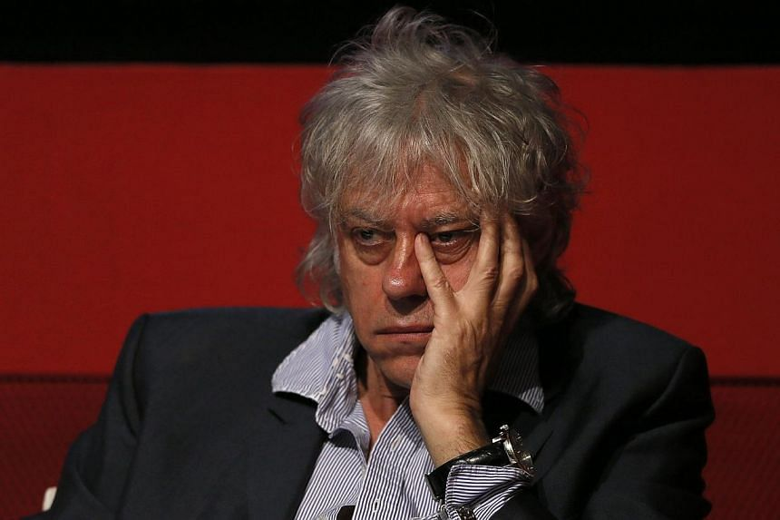 Singer Bob Geldof attends a media launch of the Africa Progress Report 2014 in London, in this May 8, 2014 file photo. Bob Geldof hit back Tuesday at critics of his Band Aid 30 charity single after the British nurse who survived Ebola said the s