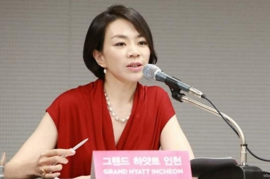 Heather Cho, the vice-president of Korean Air who caused a flight to be delayed in order to expel a flight attendant for unsatisfactory service, has resigned, a company official was cited by Reuters as saying on Tuesday. -- PHOTO: THE KOREA HERA