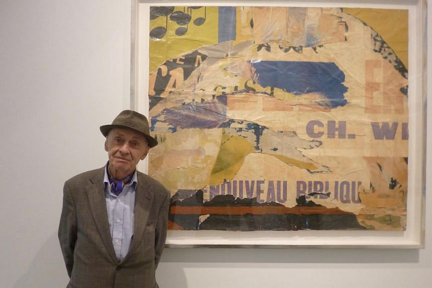 Artist Jacques Villegle (above) is the last survivor of the 1960s French artistic movement, Nouveau Realisme (New Realism), known for its appropriation of everyday objects in art creation. -- PHOTO: PARTNERS AND MUCCIACCIA