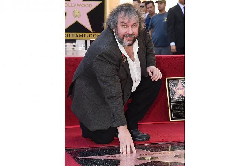 Director-producer-screenwriter Peter Jackson is honoured with the 2,538th star on the Hollywood Walk of Fame on Dec 8, 2014, in Hollywood, California.
