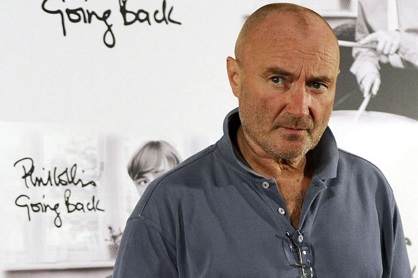 British singer Phil Collins at a photo call in Madrid on Sept 22, 2010. -- PHOTO: AFP