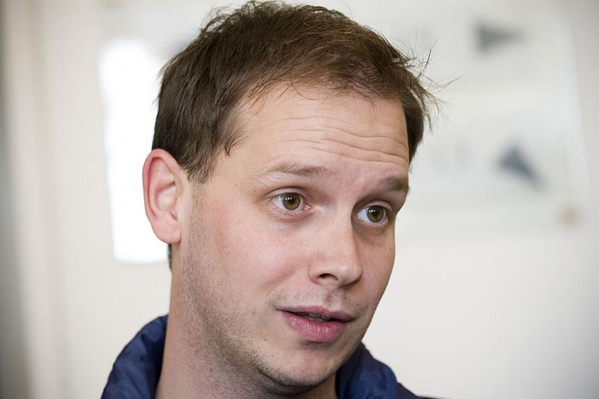 A 2010 photo showing Mr Peter Sunde, a co-founder of The Pirate Bay website, waiting at the Swedish Appeal Court in Stockholm. He was freed from prison on Nov 10, 2014, but the file-sharing website was taken down on Dec 9 after a police raid. -- PHOT