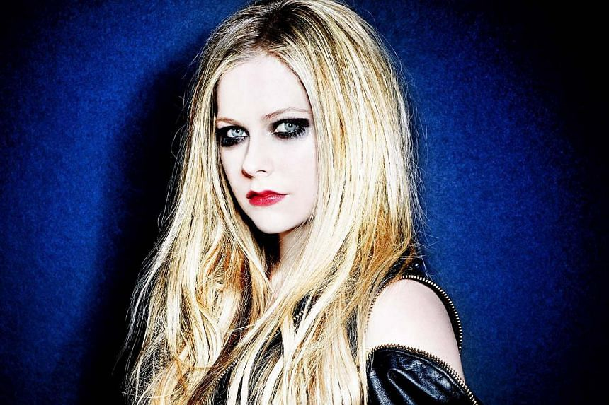 Singer Avril Lavigne is suffering from undisclosed health issues, according to a Twitter exchange between her and a fan. -- PHOTO: SONY MUSIC SINGAPORE