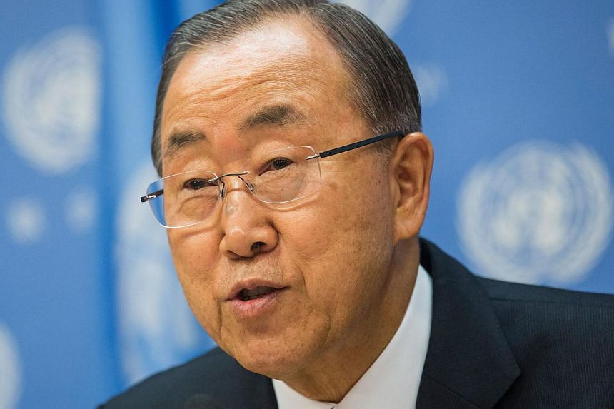"""UN chief Ban Ki-moon (above, in a file photo) told world climate negotiations in Lima on Tuesday that there is """"still a chance"""" of limiting global warming to safer levels, but time is running out. -- PHOTO: AFP"""