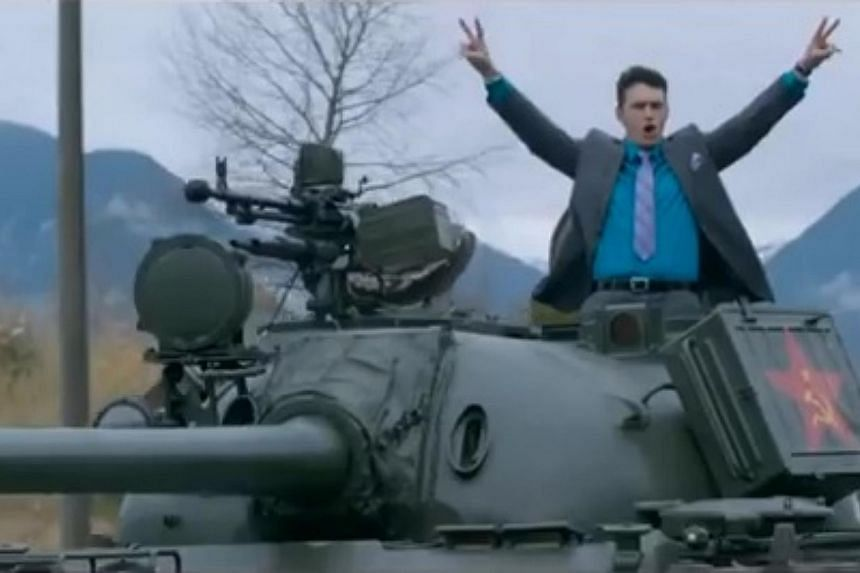 James Franco stars in Sony Pictures film The Interview.  -- PHOTO: SCREENGRAB FROM YOUTUBE