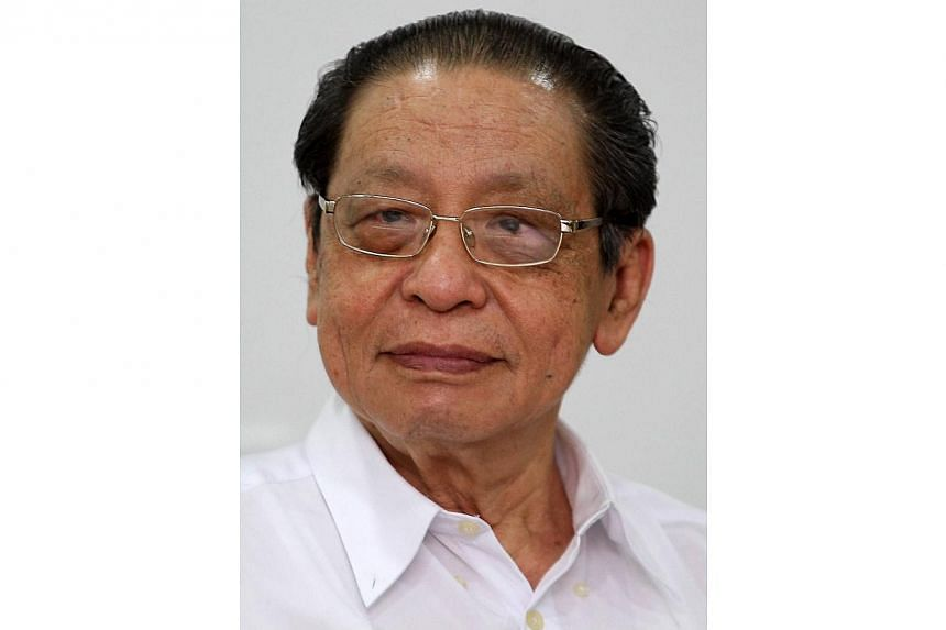 Malaysia's Democratic Action Party adviser Lim Kit Siang. -- PHOTO: THE STAR PUBLICATION