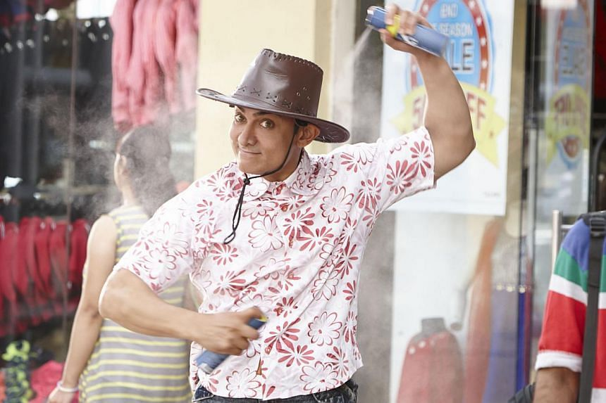 Indian superstar Aamir Khan stars next in PK, a comedy-drama film in Hindi directed by Rajkumar Hirani. -- PHOTO: UTV MOTION PICTURES