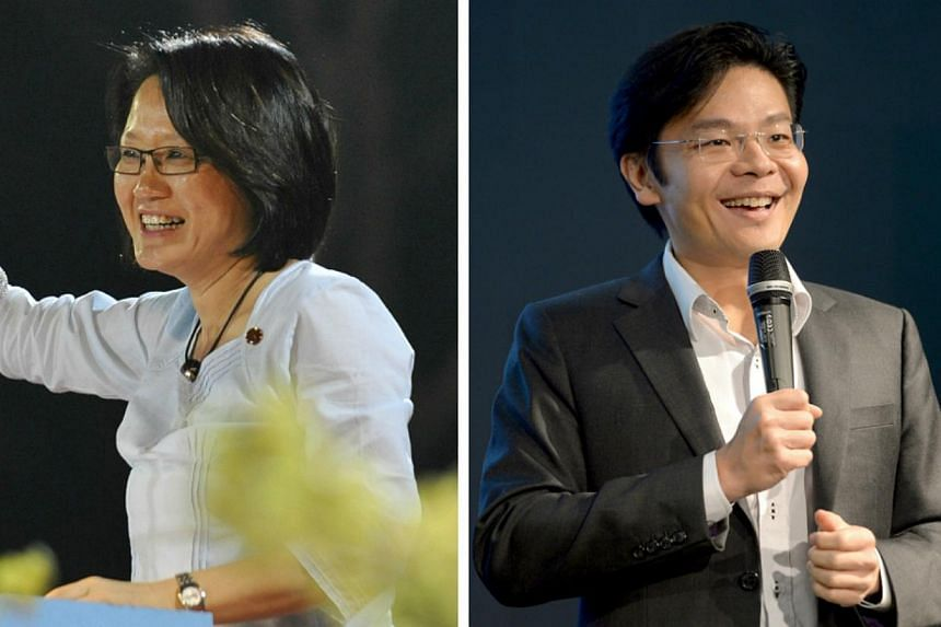 Workers' Party (WP) chairman Sylvia Lim (left) has responded to an article written by Minister of Culture, Community and Youth Lawrence Wong, which suggested that the opposition party's silence on its town council's finances and delay in submitting f