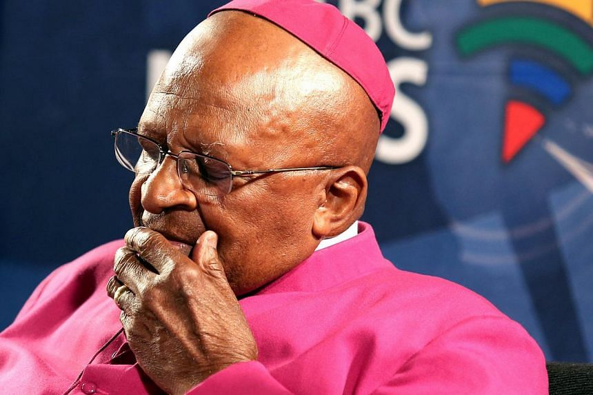 South African Archbishop Desmond Tutu (above, in a 2013 file photo) has cancelled all travel plans for the rest of the year in order to battle cancer, his foundation said Tuesday. -- PHOTO: AFP