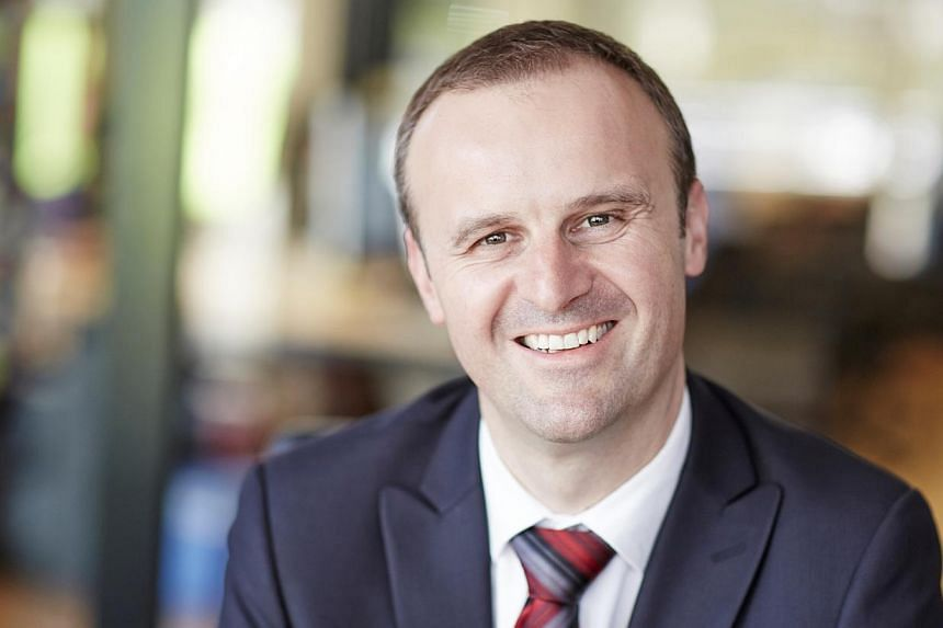 Andrew Barr became the country's first openly gay government leader after he was appointed chief minister of the Australian Capital Territory (ACT) on Dec 11, 2014. -- PHOTO: ANDREW BARR
