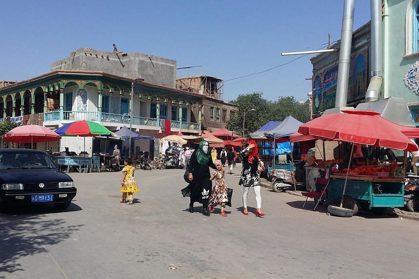 The capital of China's far western Xinjiang has banned the wearing of Islamic veils in public, the regional government said on Dec 11, 2014, in a move experts worry could spark more unrest in the troubled region. -- PHOTO: ST FILE