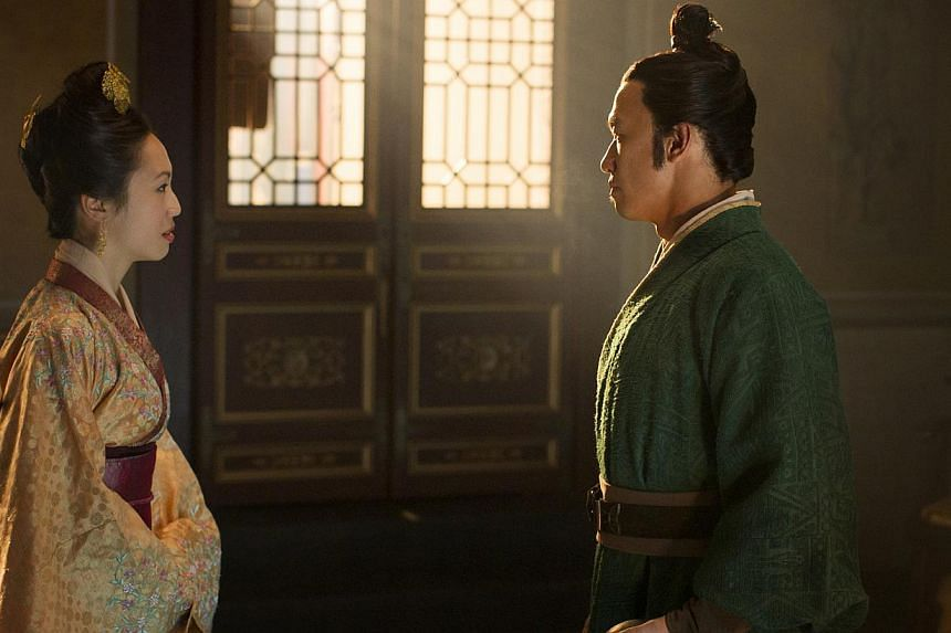 Actress Oon Shu An plays Jing Fei (above), the favourite concubine of chancellor Jia Sidao (played by Los Angeles-based Singapore actor Chin Han, above). -- PHOTO: PHIL BRAY FOR NETFLIX