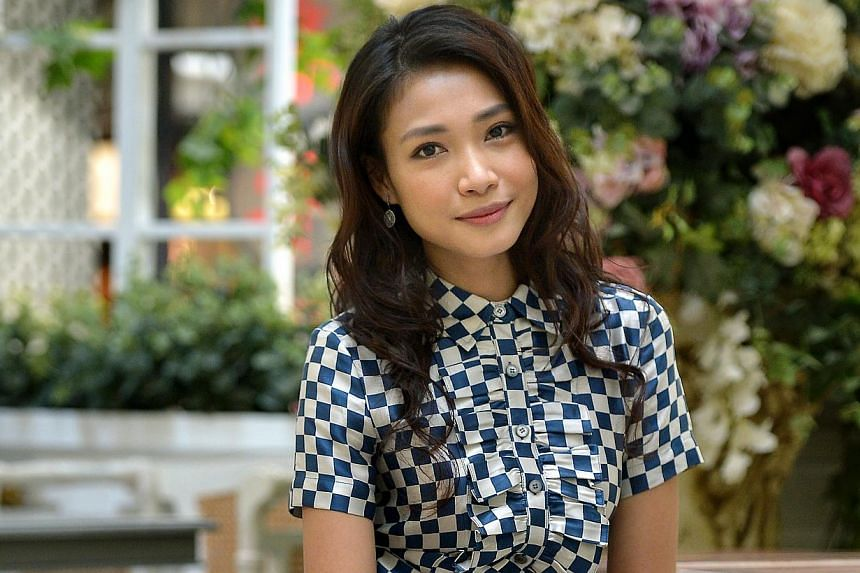 Dawn Yeoh (above) is now filming a MediaCorp sitcom, 118. She appeared in a Taiwanese TV charity show in August to raise funds for victims of the gas explosions in Kaohsiung. -- PHOTO: KUA CHEE SIONG